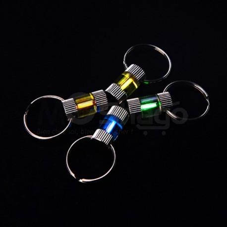 Porte-clés à base du Gaz de Tritium jaune