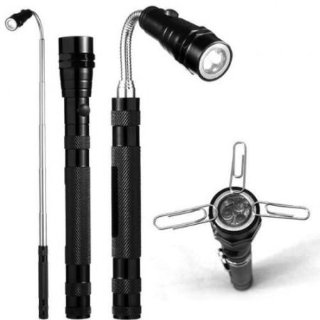 Torche magnétique LED extensible 3 LED