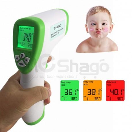 Thermomètre Numérique Infrarouge pour Bébé avec Écran lcd Bleu/Vert/violet