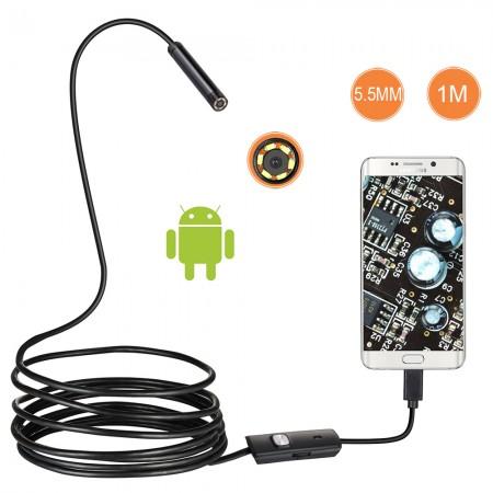 Camera endoscope 5.5mm / 3,5 mètres , pour SmartPhone/Tablette android et PC Windows