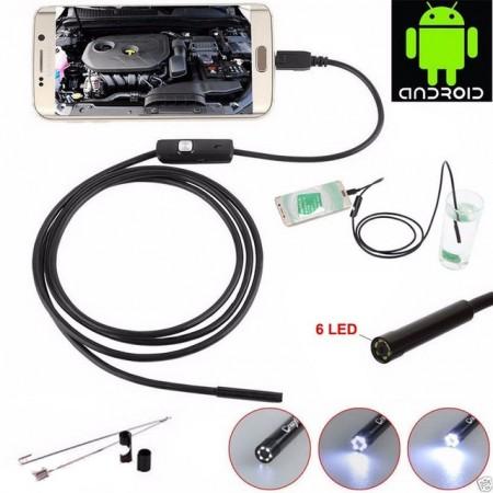 2 en 1 Caméra Endoscope numérique avec lumière LED / 5.5mm Caméra étanche -1.5m