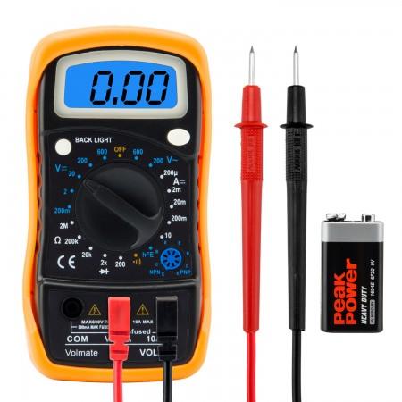 Voltmètre, Ampèremètre, Ohmmètre, Multimètre Numérique - AC DC