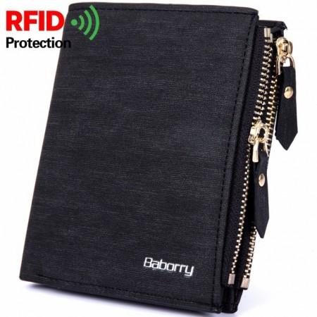 Portefeuilles anti RFID pour Hommes, Baborry couleur NOIRE - Double chaîne