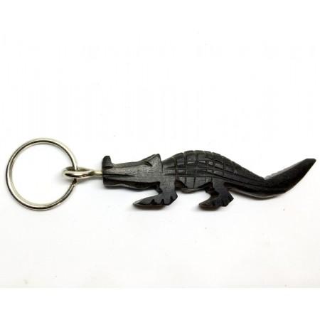 Mini Porte clé - crocodile en bois