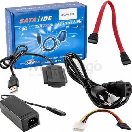 Câble Convertisseur Adaptateur SATA-IDE vers USB 2.0 pour Disque dur