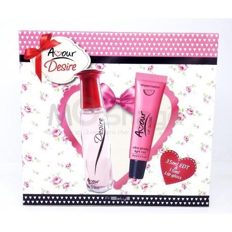 Coffret Parfum Femme & brillant à lèvres