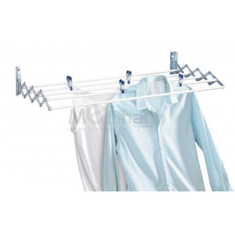 Séchoir à Linge Articulé - Extensible Aluminium 80 x 13,5 x 26,5 cm
