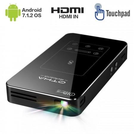 Mini vidéo projecteur de poche Ultra HD 1080 Px, 16Go Memoire inerne , Android 7.1, compatible USB / AV / HDMI / SD