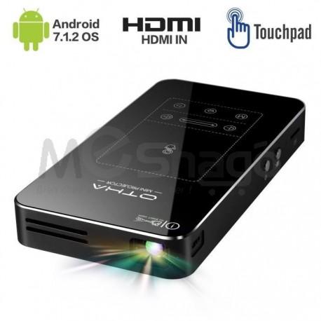 Mini vidéo projecteur de poche Ultre HP 1080 Px, 16Go Memoire inerne , Android 7.1 et APP, compatible USB / AV / HDMI / SD