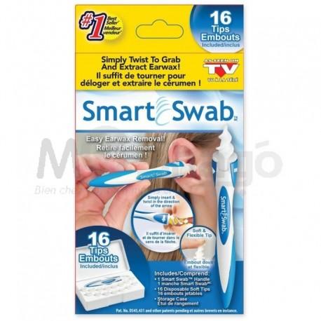 Nettoyeur d'oreille en spirale Smart Swab. Kit d'enlèvement de cire