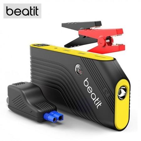 Jump Starter Beatit B9 600A , 14000mAh Démarrage de Voiture , Double Sortie USB, Torche et boussole Intégrée