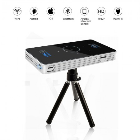 4K HD Mini Projecteur- 1080px Avec Bluetooth Wifi Android 5.1 Smart DLP Projecteur