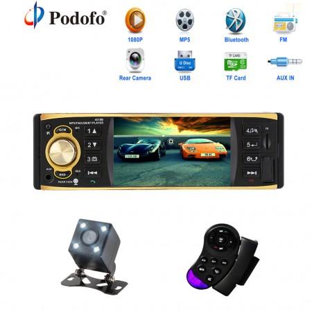 Radio pour voiture, Avec mini Ecran vidéo /Caméra de recule, AUX ,FM Radio , Bluetooth , Support USB et carte mémoire