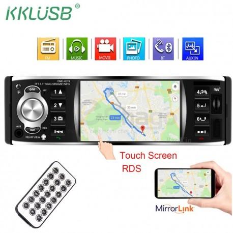 Radio voiture - écran tactile 4.1 pouce avec caméra de recule, AUX ,FM Radio , Bluetooth , Support USB Et Carte Mémoire