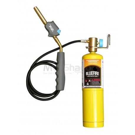 KIT Chalumeau avec cylindre Propane , pour soudure à gaz avec tuyau flexible , flamme tourbillonnante 1980°C