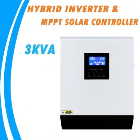 Onduleur Hybride 3 KVA Multifonction Solaire et Secteur,à onde sinusoïdale Pure 24 V 220 V