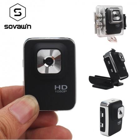 Mini caméra Sovawi étanche grand Angle,1080 p enregistreur vidéo Full HD Portable DVR