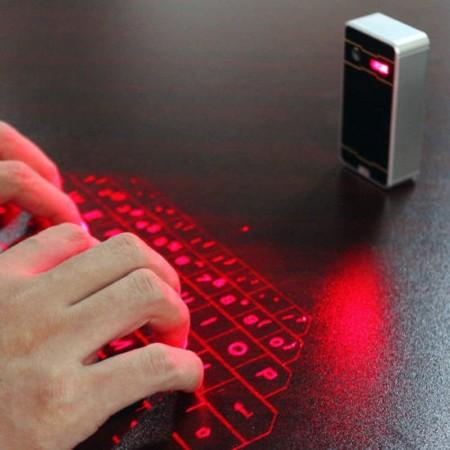 Clavier virtuel, à projection laser, sans fil Bluetooth pour iPad iPhone Téléphones intelligents Android