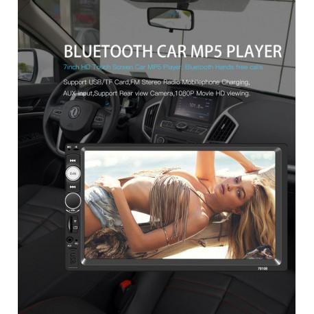 "Autoradio 7 ""HD ,lecteur multimédia écran tactile stéréo MP5 Bluetooth USB TF FM caméra"