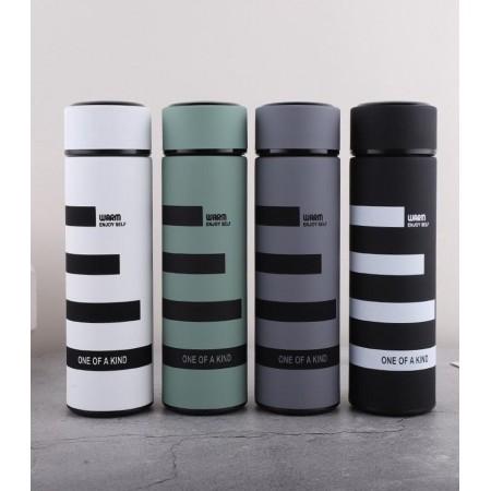 Thermos isotherme portable en acier inoxydable avec infuseur de thé et isolation thermique - 500 ml