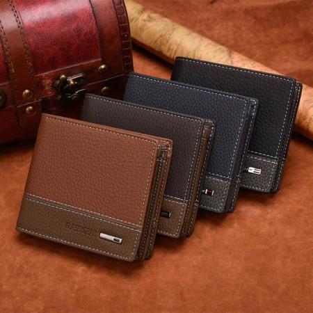 Portefeuille pour homme, de haute qualité cuire PU