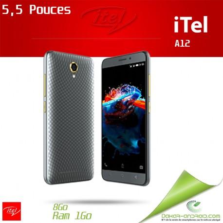 ITEL A12 - Dual Sim - 5.0 Pouces -5.0 MP - 3G - 8GB - Gris