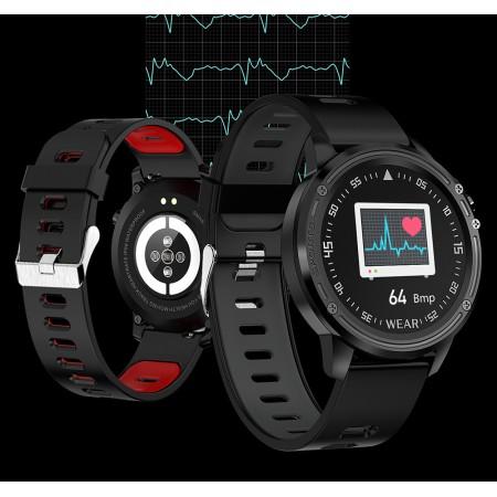 Montre sport, SmartWatch L8 intelligente étanche, avec ECG PPG pression artérielle fréquence cardiaque fitness
