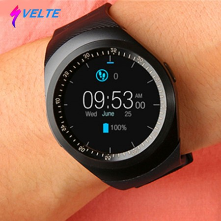 Svelte,Montre Intelligent (noire) Smart Watch compatible avec Android et iPhone , support Bluetooth , Carte SIM et mémoire