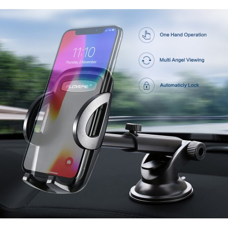 FLOVEME support téléphone pour voiture, haute qualité - Pour tableau de bord, pare-brise
