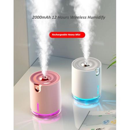 Humidificateur de parfum ultrasonique 300ml, Rechargeable Portable diffuseur d'huile essentielle