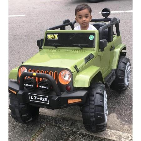 Voiture électrique télécommandé, pour enfant LT-828 - BLANC