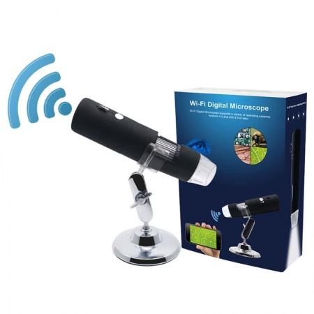 Microscope wifi numérique de poche de haute qualité, rechargeable - support pour Android IOS iPhone iPad