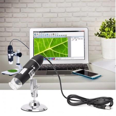 Microscope USB 1600 X 8 LED, Endoscope USB numérique de haute qualité