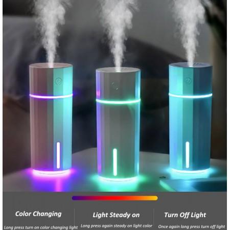Mini humidificateur d'air 200ML USB, diffuseur d'huile essentielle à ultrasons avec 7 couleurs veilleuse aromathérapie