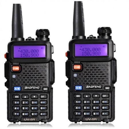 2 Radios - Taki walki Baofeng UV-5R Radio bidirectionnelle avec double bande