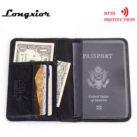Couverture de passeport , cartes de crédit véritable cuir de vache