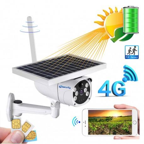 Caméra solaire 3G, 4G /wifi HD 1080P étanche, Surveillance à distance