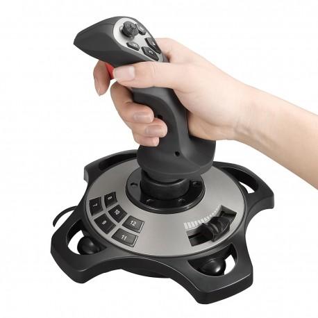 Manette de jeu fiable simulateur 4 essieux contrôleur professionnel Durable accessoires pratiques cadeau filaire jeu de vol fixe