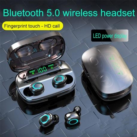 Ecouteur Bluetooth 5.0, contrôle tactile 9D stéréo, 3500mAh PK i500