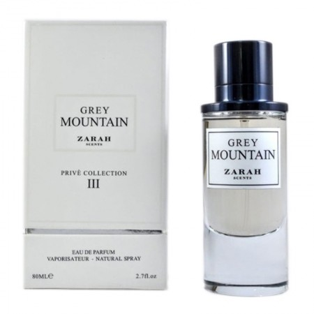 Paris Zarah Scents Grey Mountain parfum 80 ml pour Homme - Femme