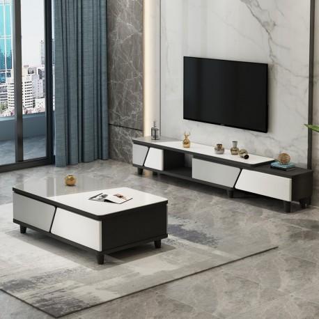 Ensemble tables basse en marbre ,simple et moderne .