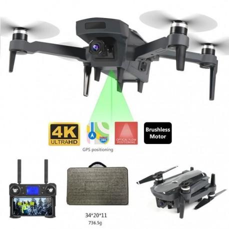 Drone K20 professionnel à Moteurs Brushless, 5G, GPS, double caméra, pliable, quadrirotor 800M