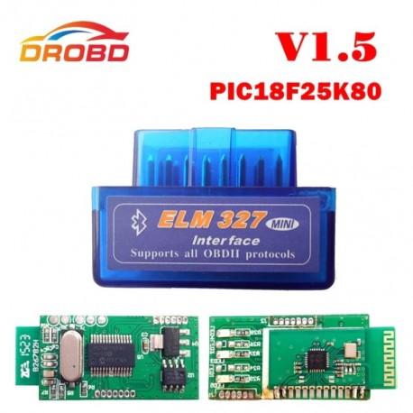 ELM 327 Bluetooth Version 1.5 MINI outil de Diagnostic auto, avec puce PIC18F25K80 OBD2