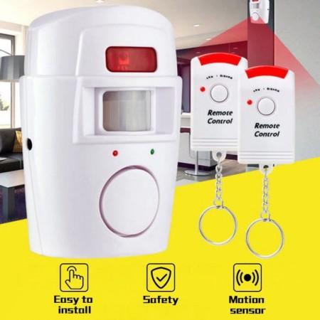 Système d'alarme sans fil pour maison + 2 télécommandes, capteur infrarouge détecteur de mouvement.