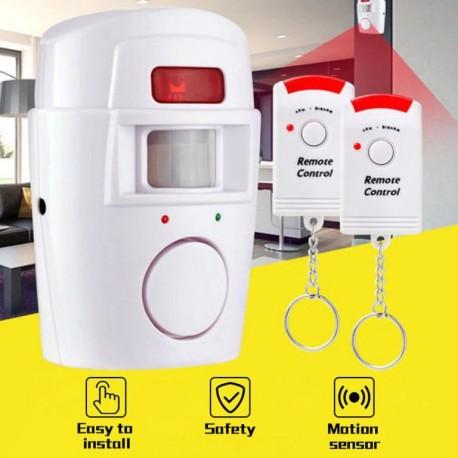 Système d'alarme sans fil + 2 télécommandes, capteur infrarouge détecteur de mouvement.