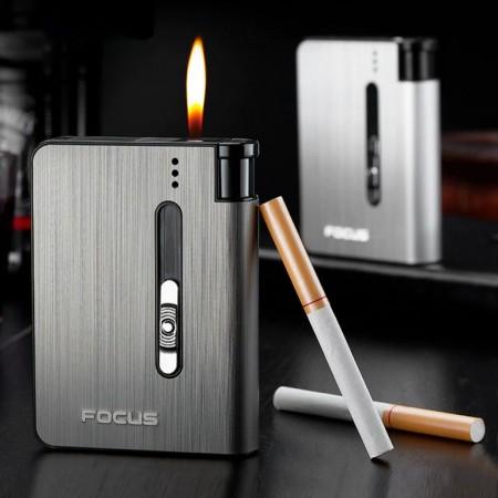 Étui à cigarettes automatique avec briquet , capacité de 10 Cigarettes.
