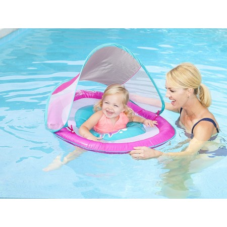 Swimways flottant avec auvent pour piscine pour les bébés