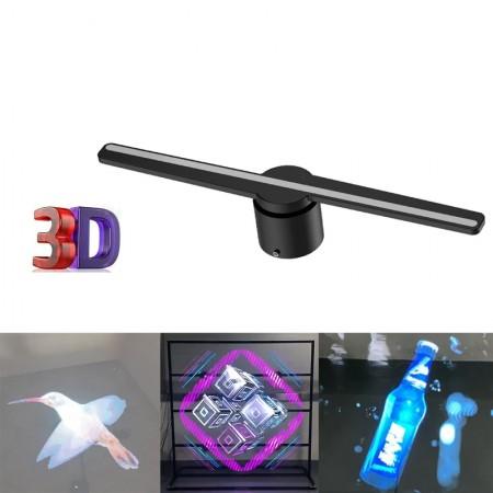 Projecteur d'hologramme led 3d, pour décoration restaurant, bureau, lecteur de publicité, Promotion etc...