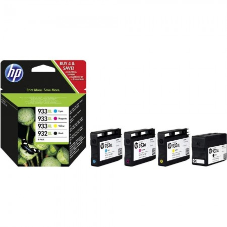 Pack 4 cartouches HP 932/933 - Noir + Couleur