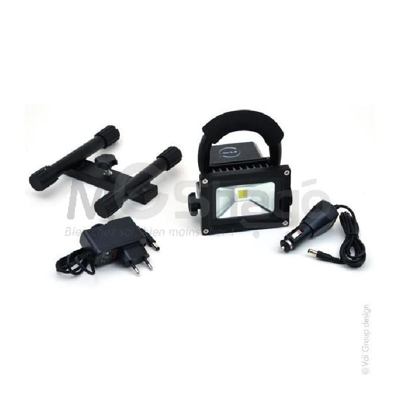 projecteur led 10w rechargeable pour chantier meshago niger. Black Bedroom Furniture Sets. Home Design Ideas